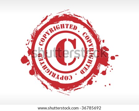 Vector copyright rubber stamp