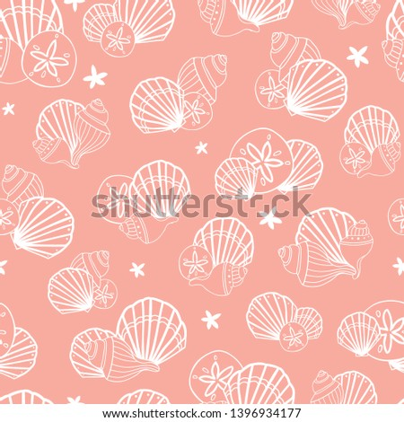 vector coral pink seamless