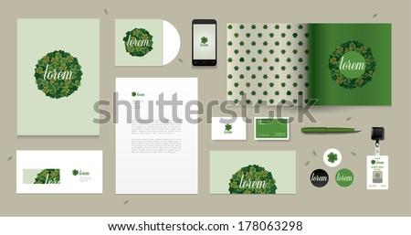 Vector corporate design for business artworks. Clover motive.