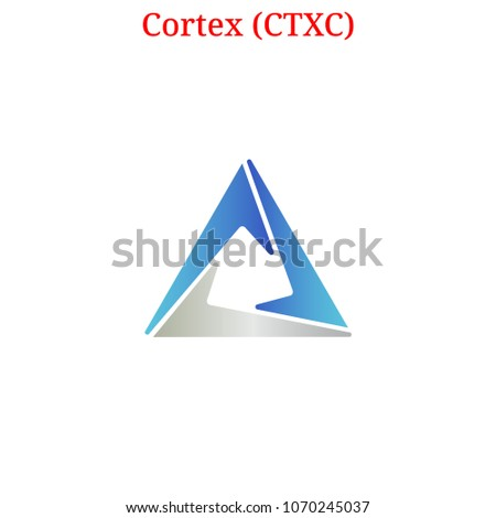Vector Cortex (CTXC) digital cryptocurrency logo. Cortex (CTXC) icon. Vector illustration isolated on white background.