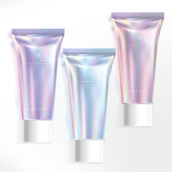 Vector Cosmetics Skincare Healthcare Haircare tubes with white screw cap