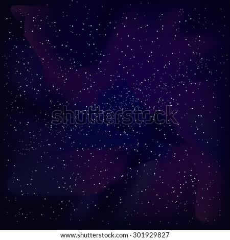 vector cosmic sky with