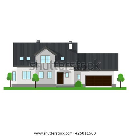 vector cottage illustration