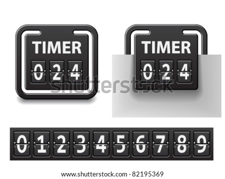 vector countdown square mechanical timer