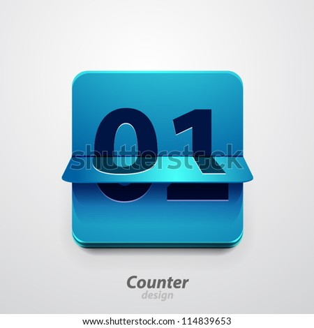 Vector counter icon