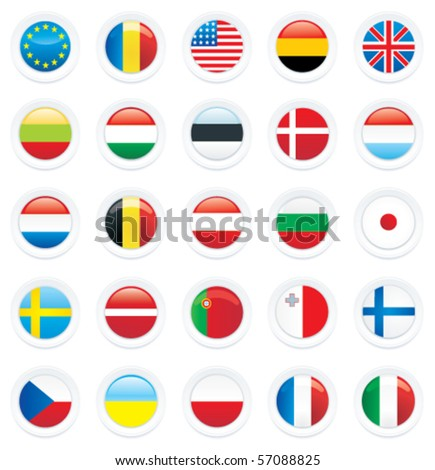 Vector country flag icon set