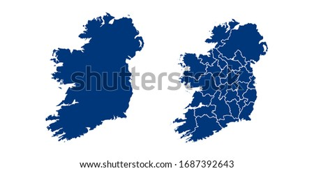 Vector couple color navy of map Ireland. Foto stock ©