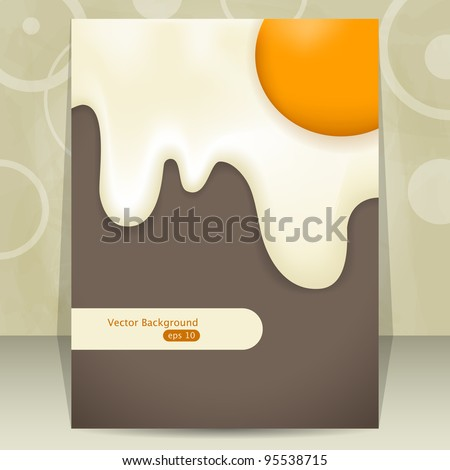 Vector cover design with fried egg