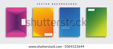 Vector cover designs. Future Poster template. Smartphone modern background set. #1064523644