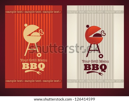 vector cover for your BBQ and grill menu