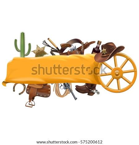 Vector Cowboy Banner