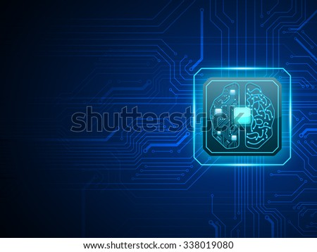 vector cpu computer with brain
