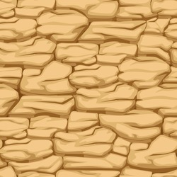 Vector cracked pattern earth, seamless texture desert soil