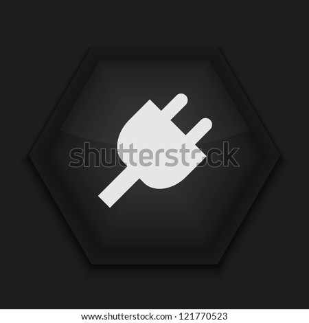 Vector creative icon on black background. Eps10
