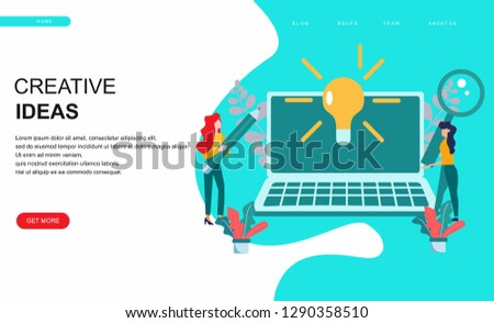 Vector creative illustration of business graphics, the company is engaged in joint search for ideas, abstract person's head, filled with ideas of thought and analytics, replacing old with new - Vector #1290358510