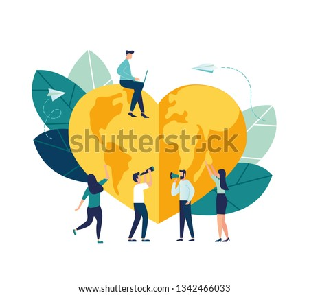 Vector creative illustration of holiday date, world earth day, save energy and planet, design concept world hour earth