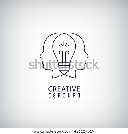 vector creative mind logo