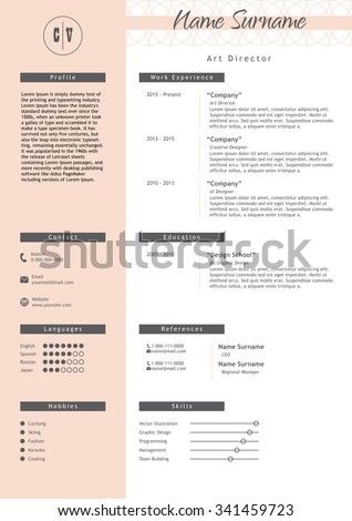 vector creative resume template
