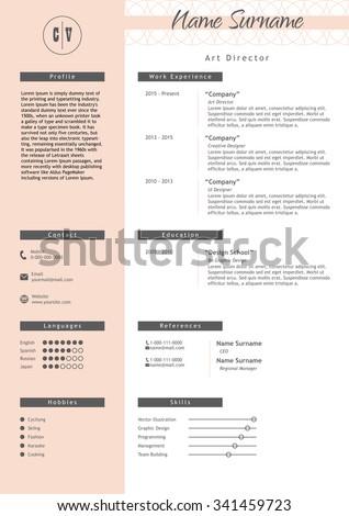 vector creative resume template