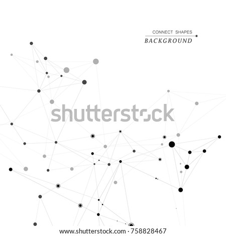 Vector creative social network. Abstract polygonal background.