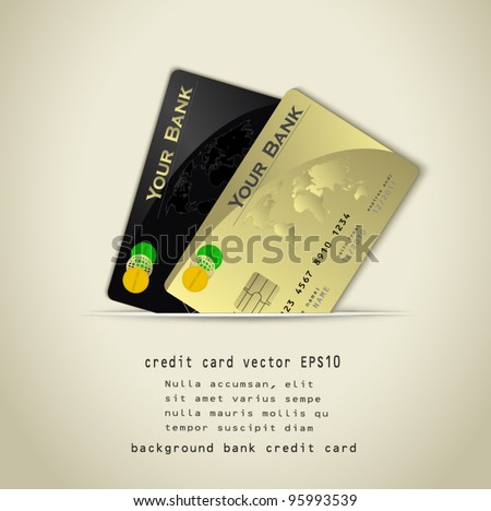 vector credit card background