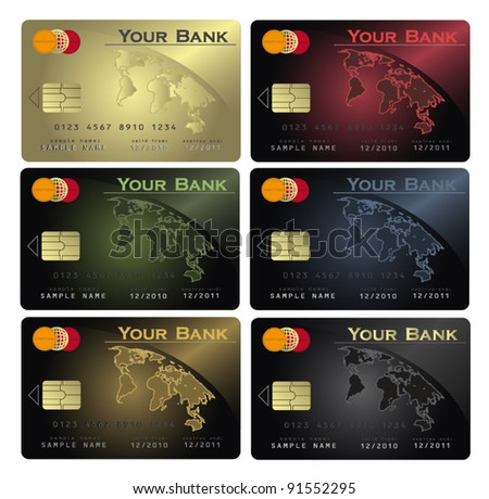 vector Credit card Colors collection