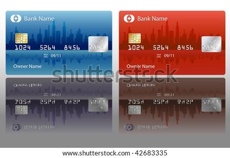 credit cards designs. vector credit card design