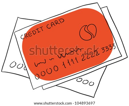Vector credit cards are isolated on a white background