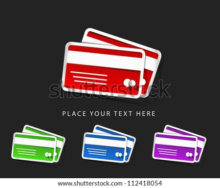 vector credit cards icon design element.