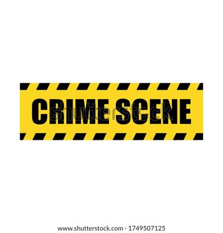 vector crime scene yellow