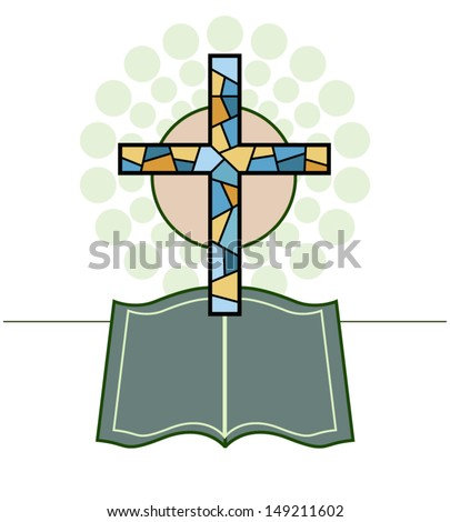 Vector Cross & Bible Religious made in 2d software
