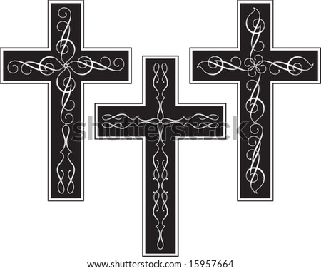 stock vector Vector Cross Design ornamental