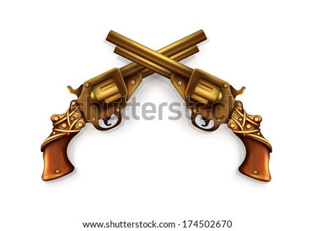 Vector Crossed Revolvers
