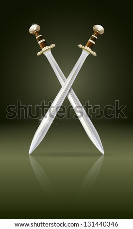 vector crossed swords with
