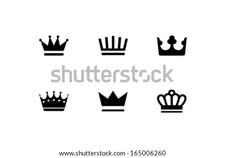 Vector Images Illustrations And Cliparts Vector Crown Icon Symbol