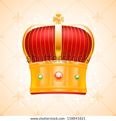Vector crown with gems