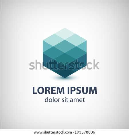 vector crystal abstract icon, logo for your company