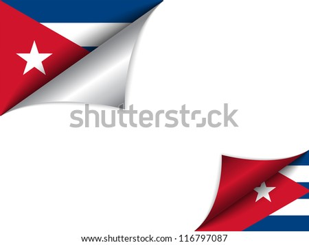 Vector - Cuba Country Flag Turning Page