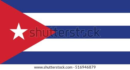 vector cuba flag  cuba flag