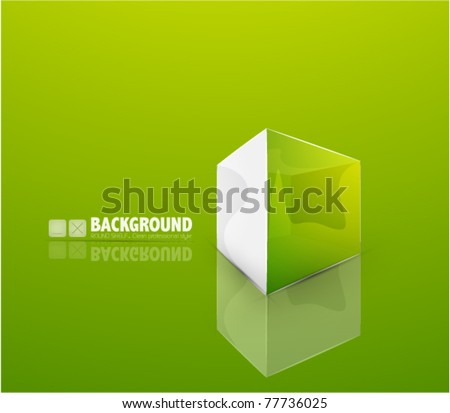 Vector cube background