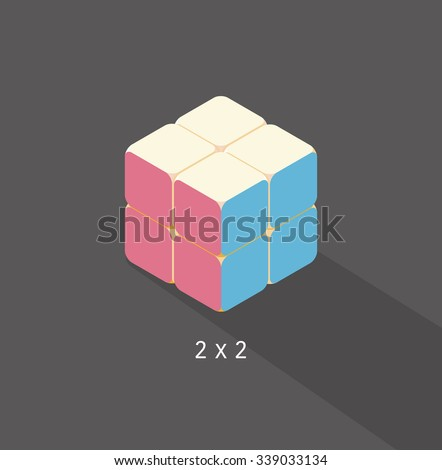 vector cube toy puzzle  2x2