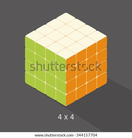 vector cube toy puzzle  4x4