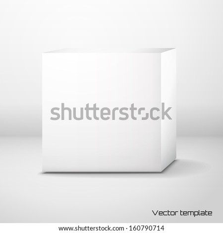 Vector cubic box template.