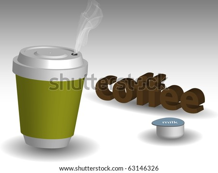 vector cup of coffee - stock vector