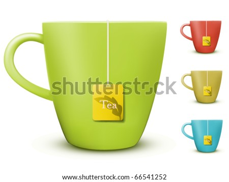 vector cup of tea illustration