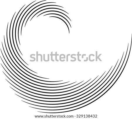 Vector Curved Lines . Design Element . Black Painted Stroke . Used as Banner . Template , Logo .