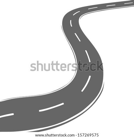 vector curved road simple line