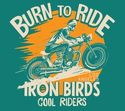 vector custom cafe racer motorcycle  illustration