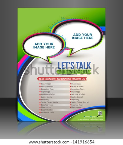 Vector customer support brochure flyer magazine cover & poster template