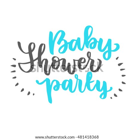 Vector cute baby shower invitation with lettering for boy baby vector cute baby shower invitation with lettering for boy baby shower invitation template filmwisefo
